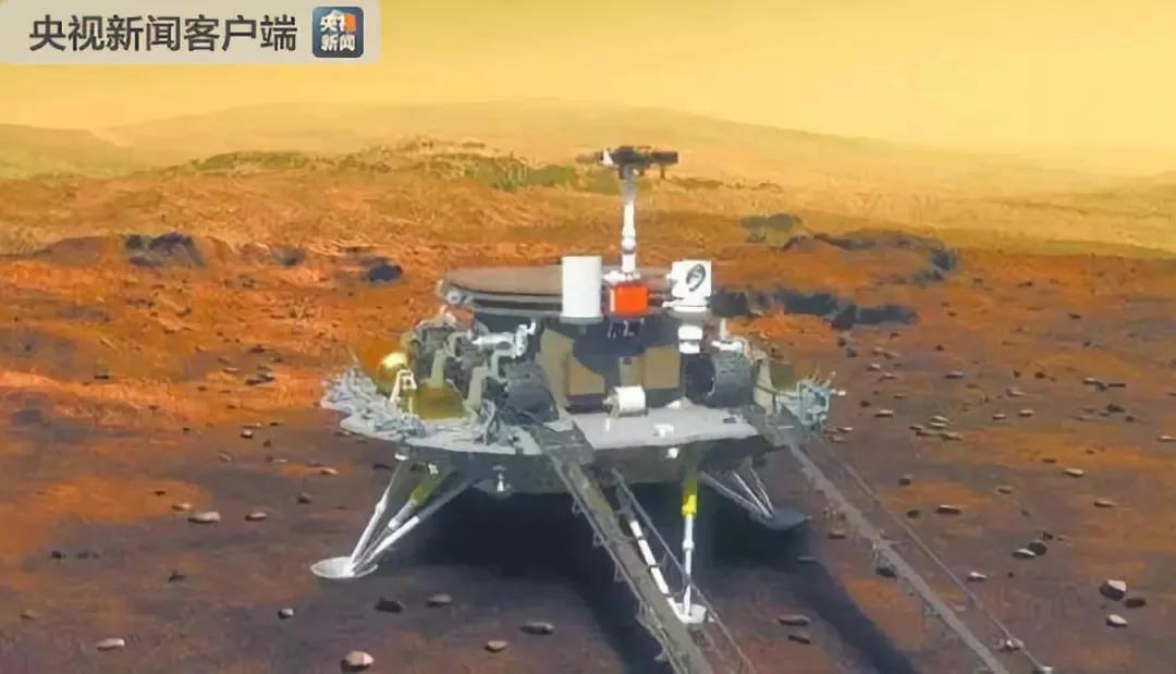 △ 中国火星探测器构想图
