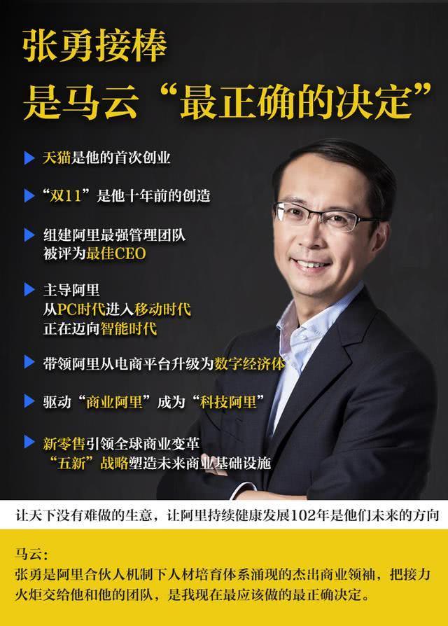 马云接班人张勇:从淘宝CFO到阿里CEO,天猫和双11缔造者