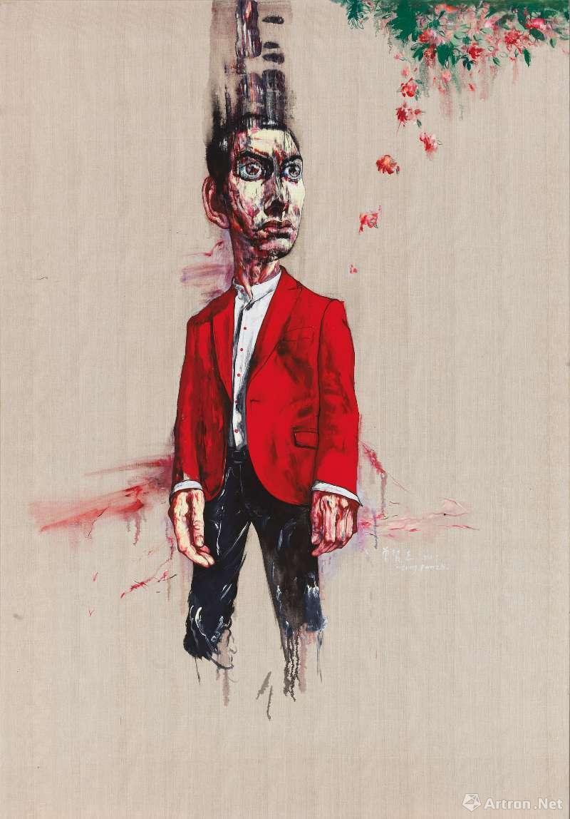 《无题》,油彩画布,244 x 170cm,2003 ©曾梵志,图片:艺术家、豪瑟沃斯