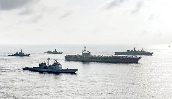 """美军舰穿台湾海峡 叫嚣""""去国际法允许的任何地方"""""""