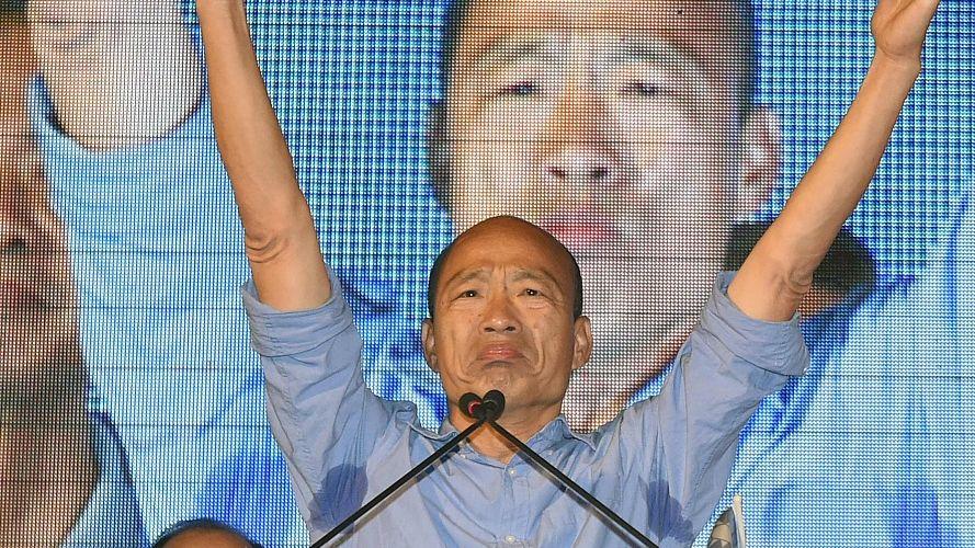 ▲韩国瑜宣布当选高雄市长 打破民进党20年执政 图/视觉中国