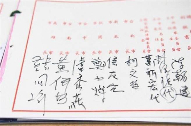 """台""""六都""""市长签名曝光 台网友:黄何B是谁?"""