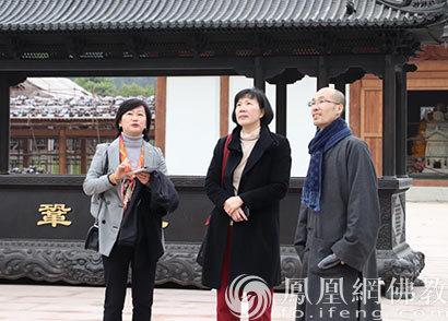 日本友人参访福建黄檗山万福寺