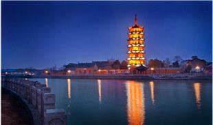 古老运河水,灵秀文峰寺