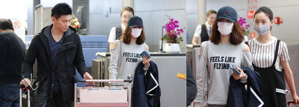 刘诗诗赴袁弘婚礼与闺蜜热聊 吴奇隆推行李当跟班
