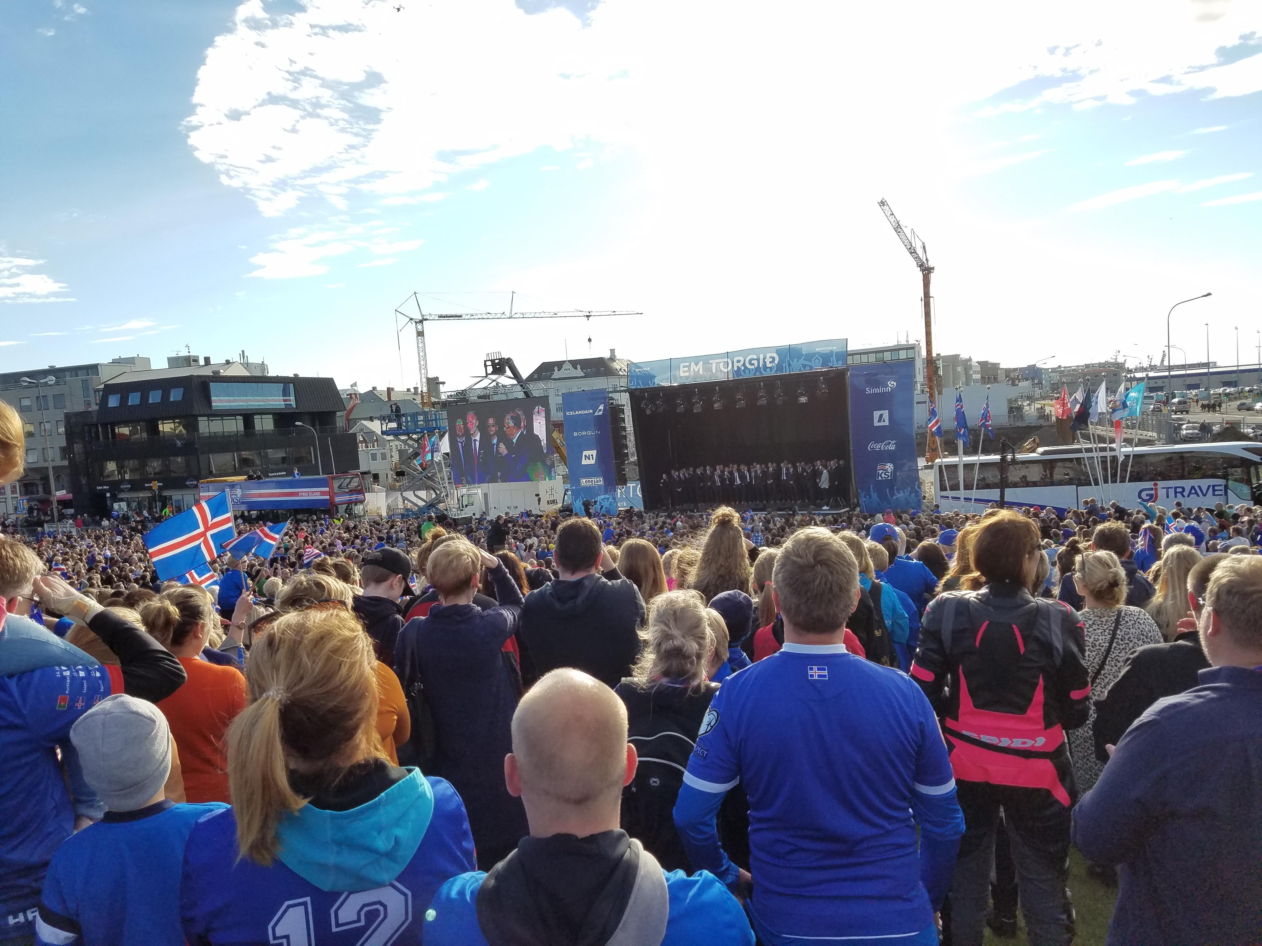 段暄直播冰岛球员凯旋仪式