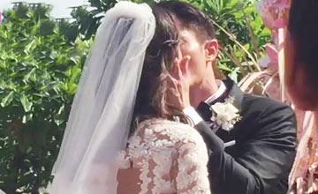 霍建华林心如大婚:新人甜蜜拥吻
