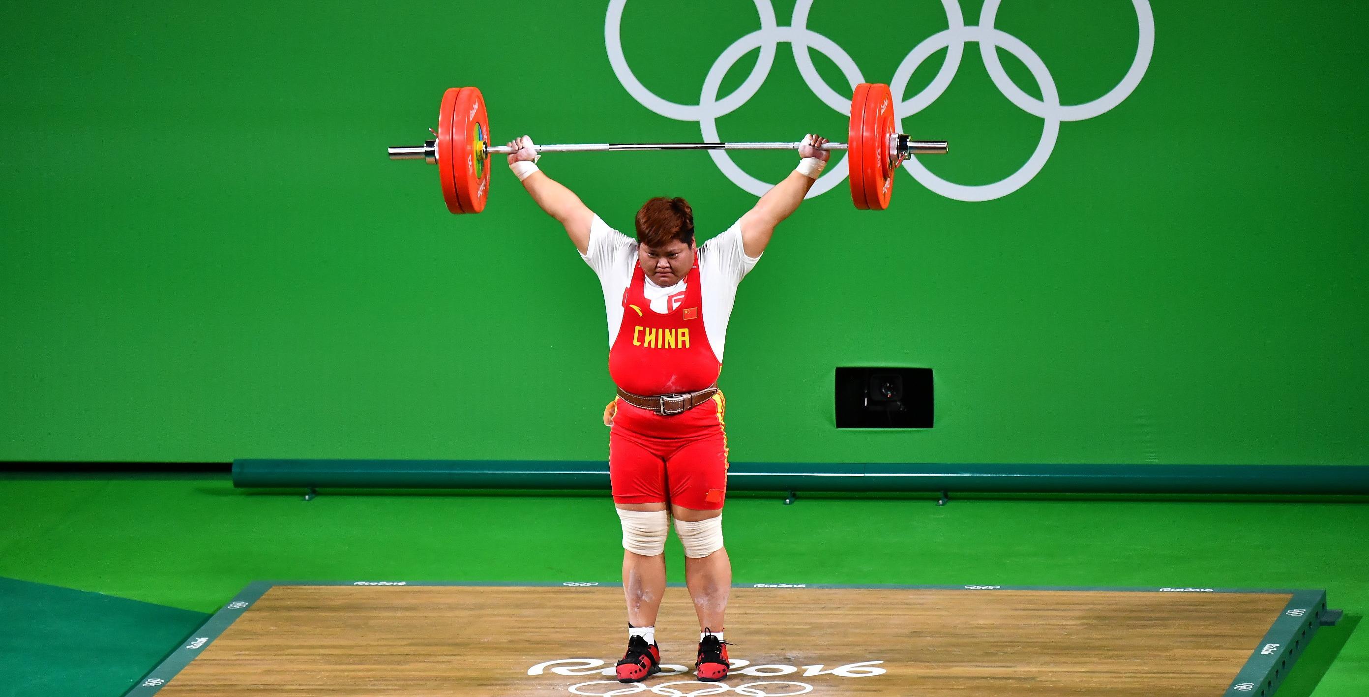奥运摘金创意海报