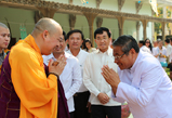 国家仪仗护卫 柬埔寨高规格恭请本焕长老舍利