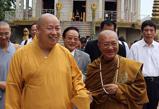 弘法寺方丈印顺法师访问柬埔寨与柬宗教部长会谈