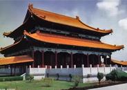 蓝毗尼各国寺院 中华寺唯一红墙黄瓦