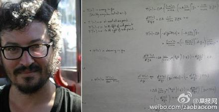 经济学教授门齐奥在飞机上做的计算