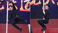 飞起来了! 52岁朱军表演杂技臂力惊人
