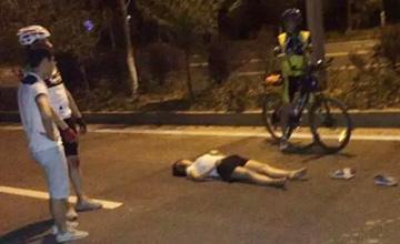 女子夜跑被骑行自行车撞击身亡