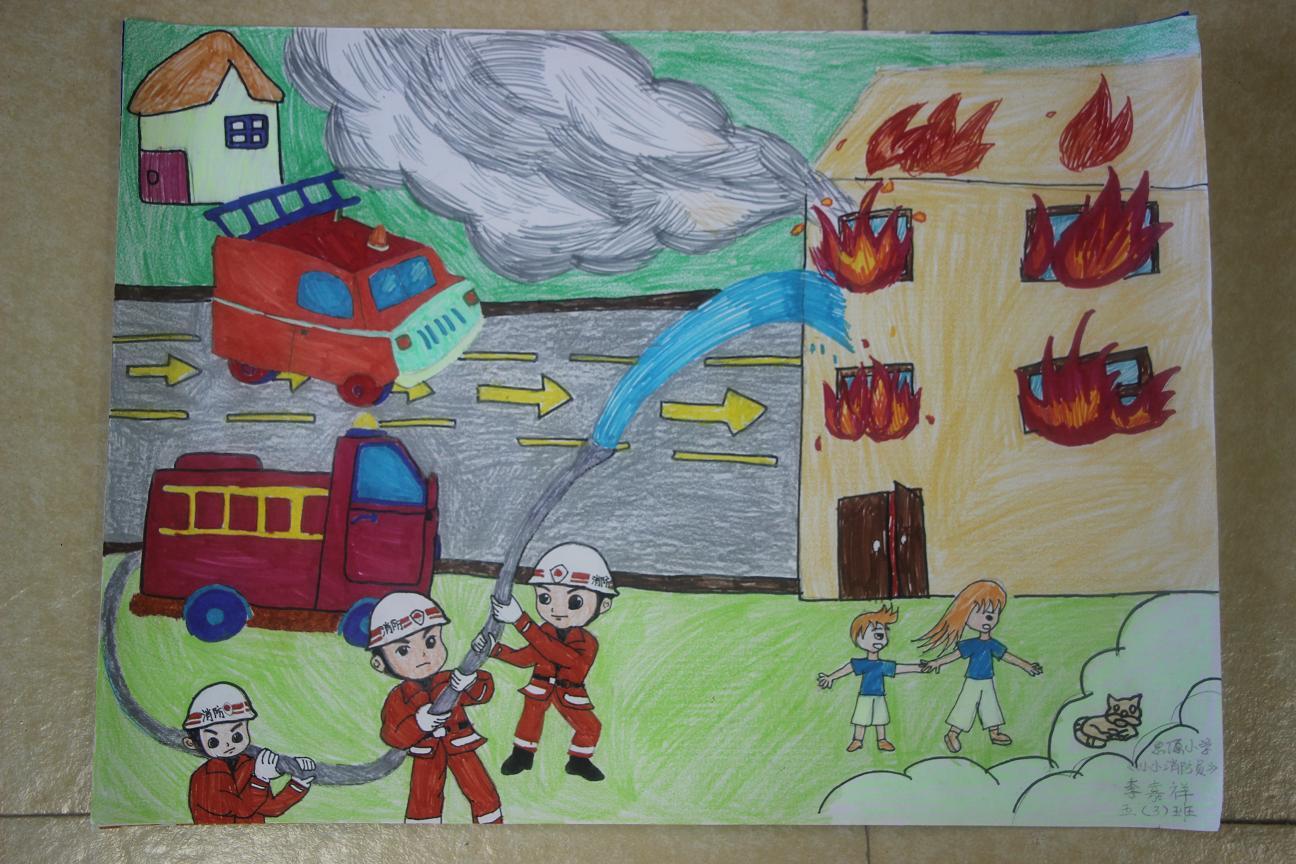 我是小小消防员绘画作品展示_可可 746x549 - 44kb - jpeg