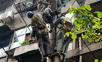 武汉一电线工人触电身亡现场