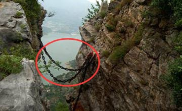 百丈悬崖上