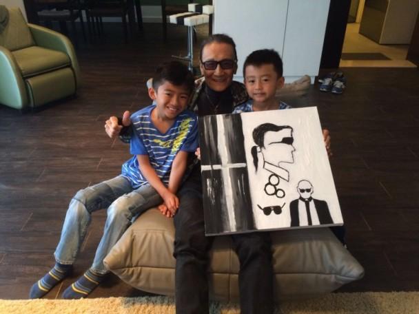 【星娱TV】谢贤80大寿,张柏芝亲手为他画了这样一幅画(图)