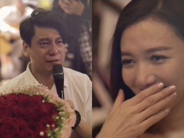 【星娱TV】朱孝天播《流星雨》求婚韩雯雯 落泪下跪超感人