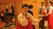 实拍朝鲜美女工作人员 会说中文 穿短裙跳舞