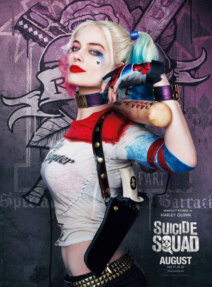 电影  小丑女个人角色海报 扮演哈莉的玛格·萝比,经化妆师一鼓捣图片