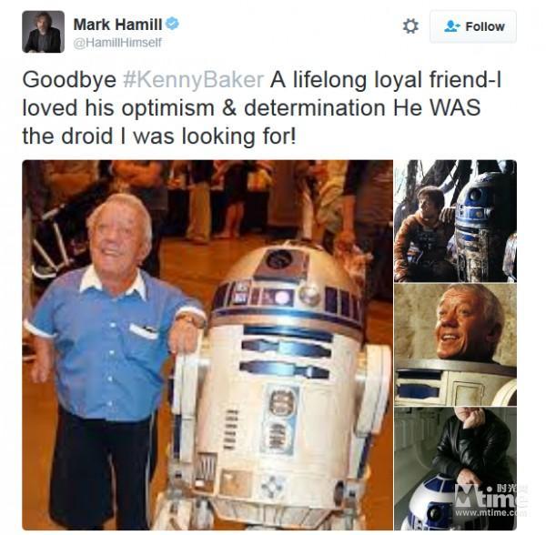 【星娱TV】星战R2-D2扮演者肯尼·贝克去世 享年81岁