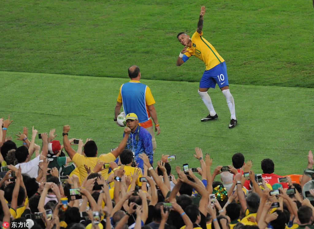 内马尔破门+点球大战绝杀 巴西6-5德国夺冠