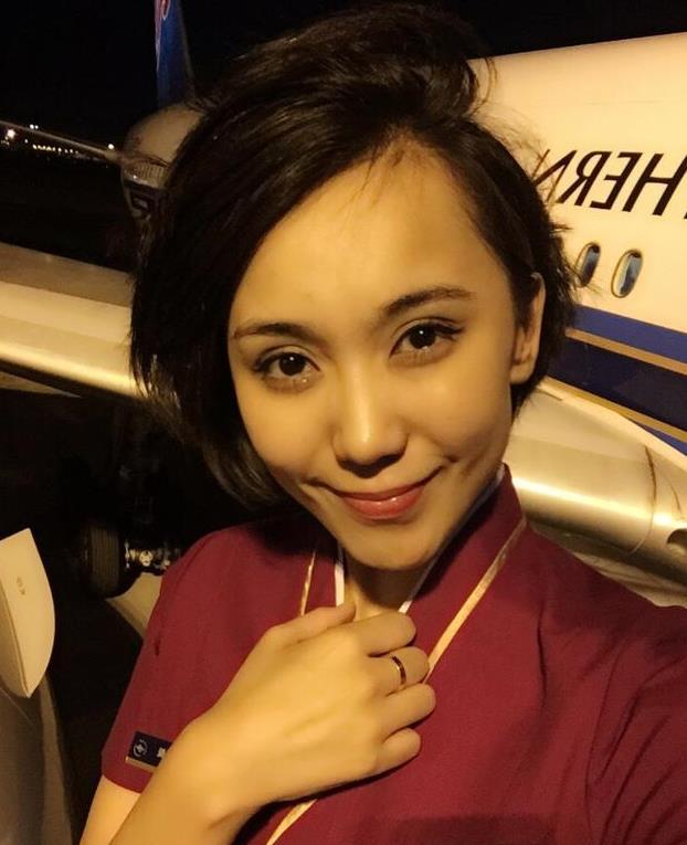 古力娜扎亲姐姐晒美照 穿空姐制服超级美