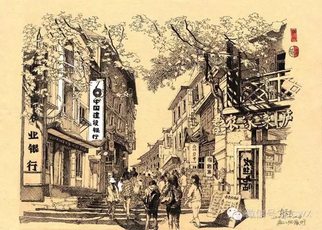 如琴湖 湖口乡村教师手绘家乡被赞有情怀 九江市湖口县水稻场小学