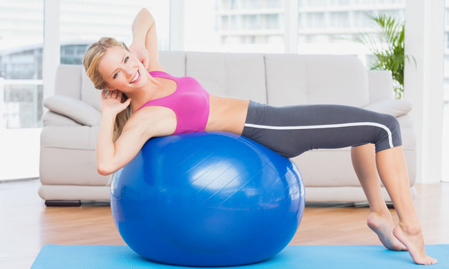 一个球帮你瘦腰腹