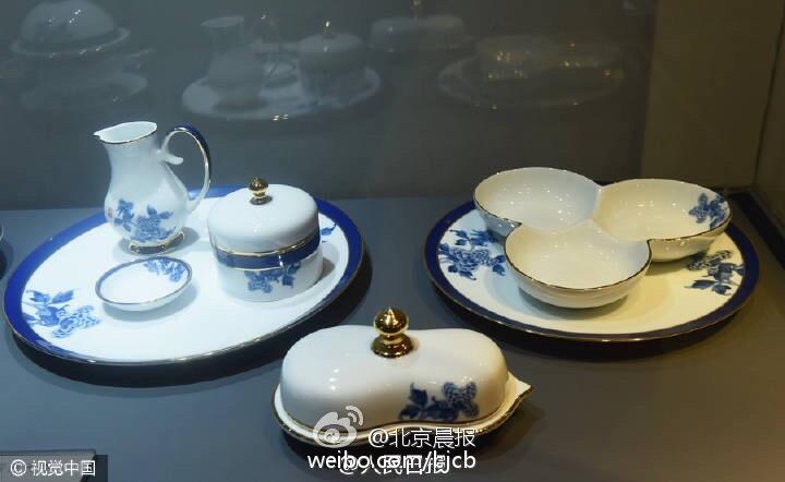 G20杭州峰会国宴用瓷公开展示 限量每套8.8万(图)