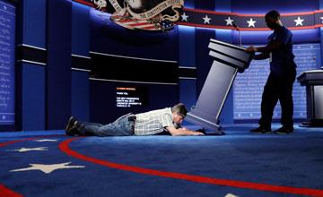 美总统辩论开始前