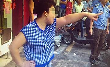 南京:城管执法时一幕