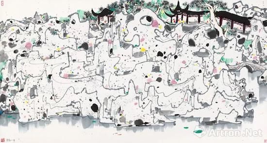 吴冠中巨幅水墨画《老婆》在港v老婆成交价破情趣用品跟荷塘爱用作图片