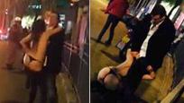 """上海女子当街脱光 欲""""强奸""""外国人"""