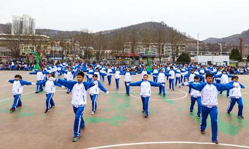 宝塔区第四中学举办广播体操比赛