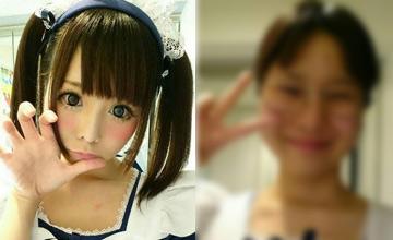 日本二次元美少女爆红网络 卸妆后太惊人