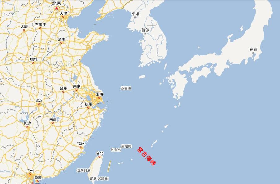 宫古海峡位置示意图