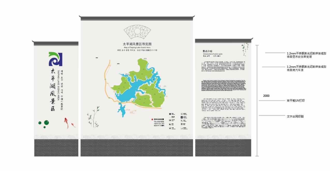 景区标志:统一设计景区导览图