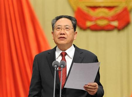 省委书记、大会执行主席李锦斌主持大会