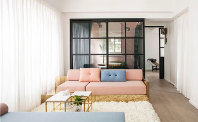 小空间的居住艺术 一百平米多功能气质美宅
