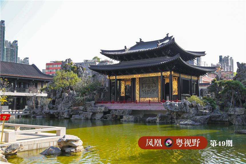 广福台是建筑工程师最推荐的地方,工艺也是最高,包含了木雕、砖雕两门传统工艺。广福台,取名意在向佛山祖庙万福戏台致敬,是整座园林中唯一的纯木结构建筑。