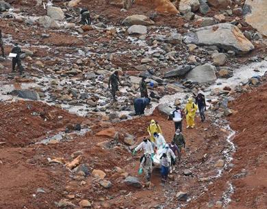 塞拉利昂洪水和泥石流灾害遇难人数超过400人