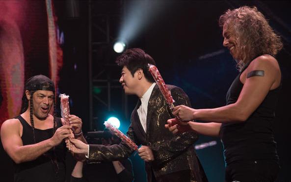 郎朗助阵Metallica北京首演 赠糖葫芦作礼物