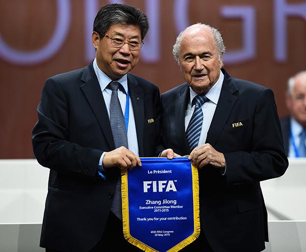 2015年,第65届国际足联大选举行,张吉龙卸任FIFA执委.视觉中国