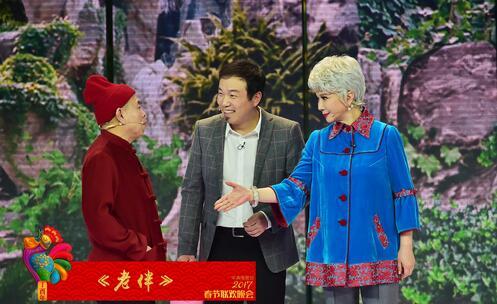 冰雪女王与小红帽?蔡明潘长江造型惹眼(图)