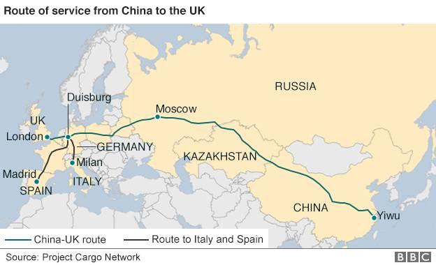 第一列中欧班列路线-幻想着从义乌坐火车去伦敦 先收下这份国际列车