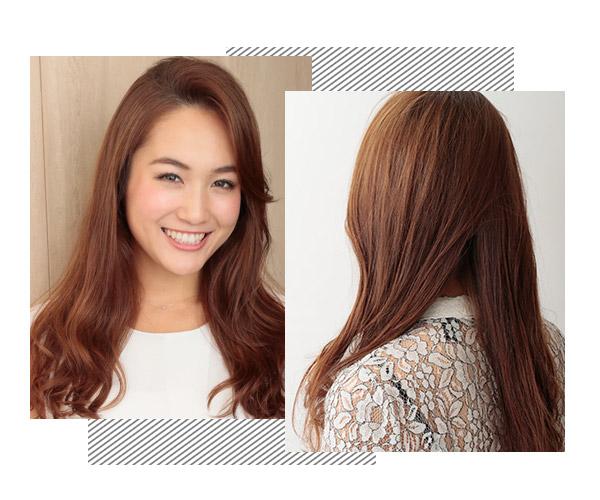 侧扎头发加上扭转设计,让造型变得更吸引人,同时让妹子气质变得更好