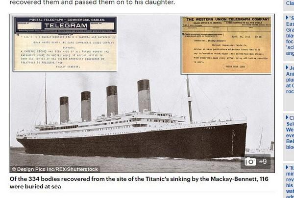 惊呆了,这特么可能!泰坦尼克救援电报曝光:富人尸体带回 穷人丢大海
