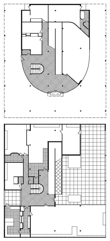 图22.9 萨伏伊别墅的平面图